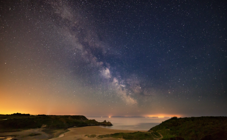 Gower AONB - Night Sky over Three Cliffs Bay.png